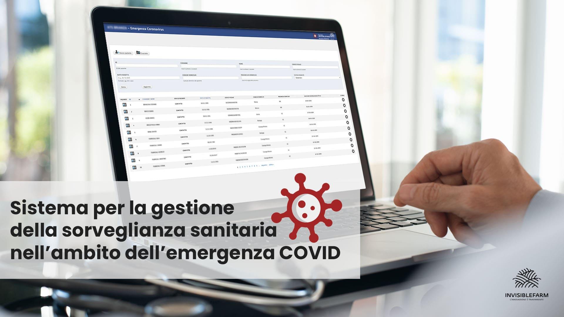 articolo sul sistema per la gestione sanitaria dell'emergenza COVID-19