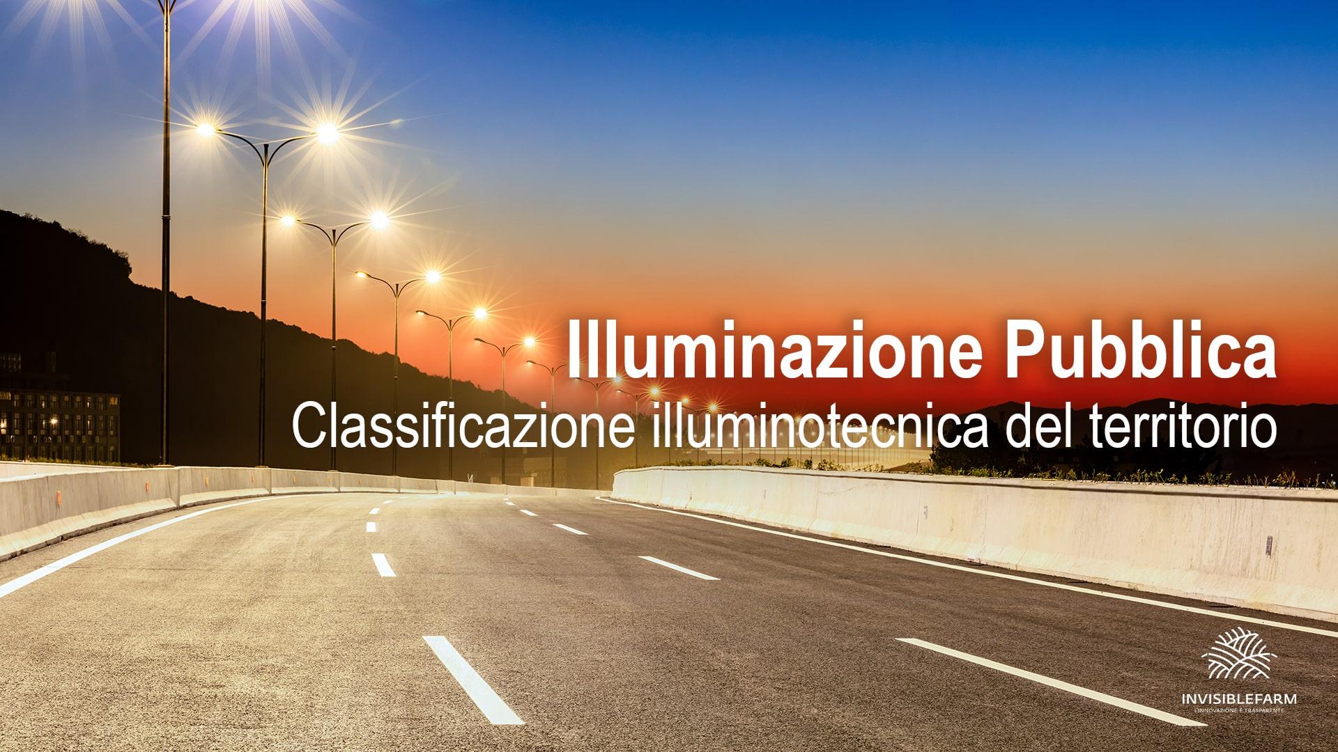 autostrada illuminata da lampioni